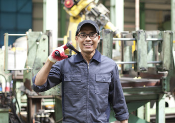 Industrial engineer in factory