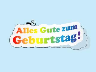 """""""ALLES GUT ZUM GEBURTSTAG"""" Karte (Feste Party Etikett)"""