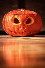 Halloween evil face pumpkin