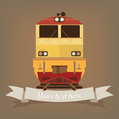 The train retro.