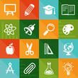 Vector flat icons - education and science