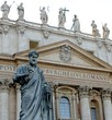 Impressive statue of Saint Peter in the Vatican