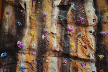 Artificial climbing wall indoor
