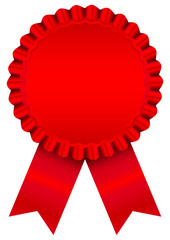 Red Award Badge