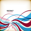 Abstract colorful wave shapes background