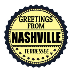 Greetings from Nashville label