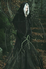 Emanation of dark powers from a forest witch