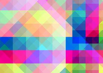 Abstract geometric background with colorful tiles