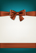Gift card with brown bow.