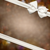 Gift card with white bow.