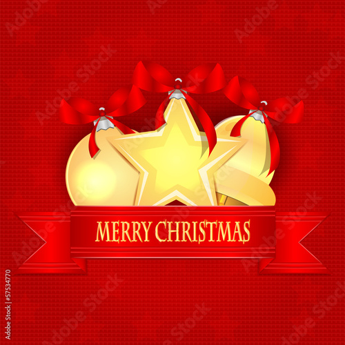 Christmas Holiday Greetings.Christmas background.Christmas golde