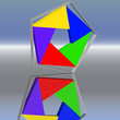 Farbfuenfeck im Rahmen