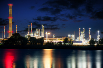 Refinery - chemical plant at night
