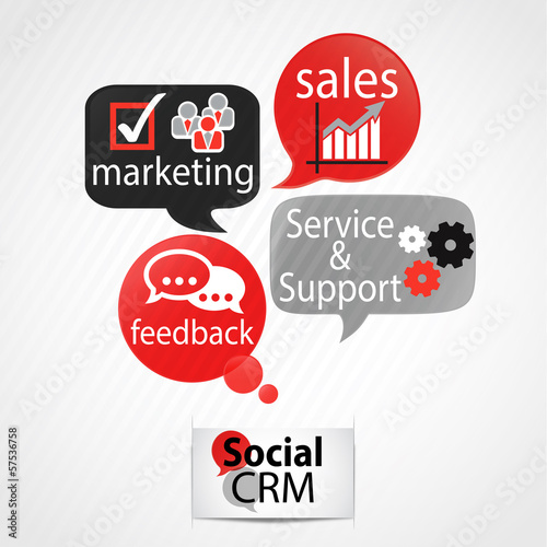 speech bubbles : social crm template