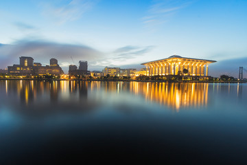 Putrajaya scene on blue hour