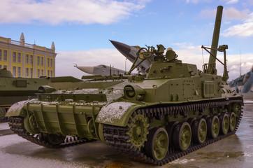Heavy soviet tank.Cold war
