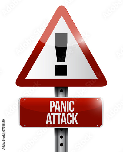panic attack road sign illustration design