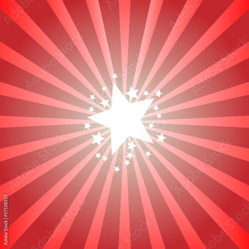 Graphic design - Background with bright stars, red