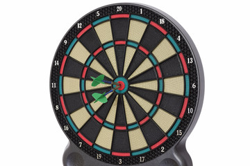 Darts game, bull eye