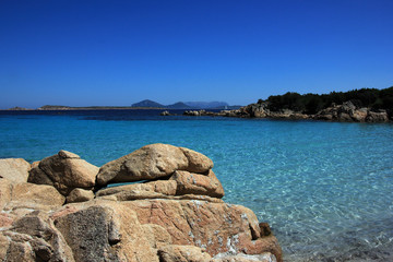 Wonderful paradise beach in  Sardinia, Italy
