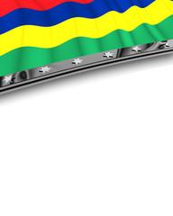 Designelement Flagge Mauritius