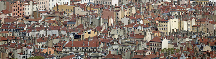 Stadtansicht von Lyon, Frankreich