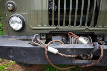 close up of a winch