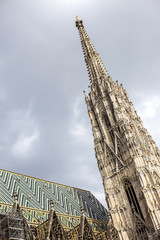 Fragment of the St, Stephen's Cathedral in Vienna, Austria