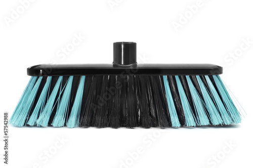 synthetic bristles broom