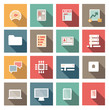 icônes : flatscreen : application, plateforme, matériel