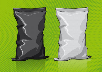 Black and white snack package for new design