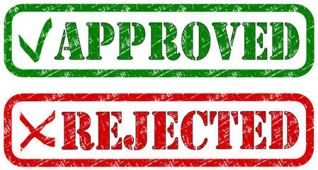Rejected Approved Stempel  #131023-svg01
