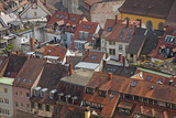 Roofs of buildings in Freiburg im Breisgau city