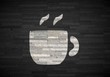 3d render of a stylish coffee label  on noble stone texture