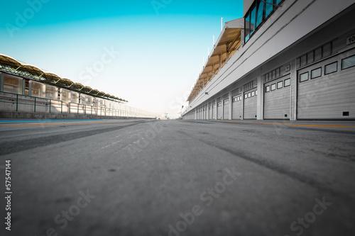 Fotobehang Stadion auto-motor speedway garage station