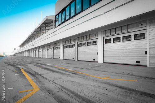 Foto op Canvas Stadion auto-motor speedway garage station