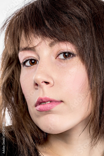 Closeup portrait of an attractive young woman