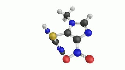 Azathioprine immunosuppressive drug, chemical structure