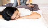Woman geting massage spa
