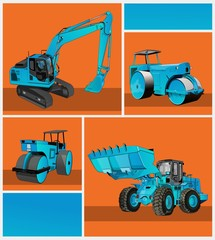 heavy equipment blue