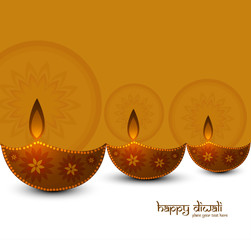 Beautiful background diwali festival colorful card vector illust