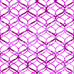 Abstract pink grunge chain on white seamless pattern, vector