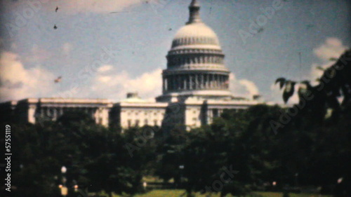 US Capitol Building Washington DC-1940 Vintage 8mm film