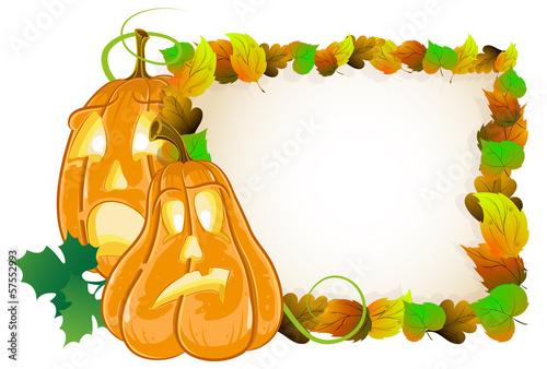 Pumpkin head and  leaves