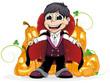 Vampire  boy and  Jack O Lanterns