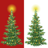 Fototapety Christmas tree with decorations