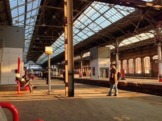 preston station early morning