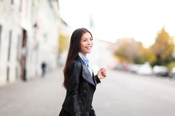 Urban modern woman outdoor in street