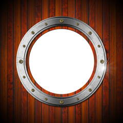 Wooden and Metallic Porthole