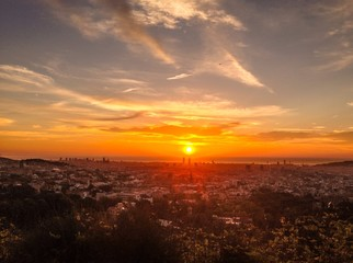 Sunrise in Barcelona